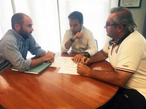 Jordi Carrasco, Carlos Sanlorenzo y Carlos Torrado, en la reunión